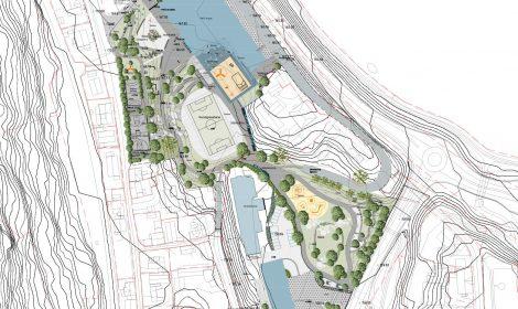 Dette er forslaget til landskapsplan i reguleringsplanen.